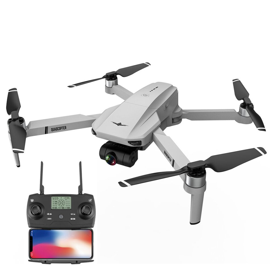 KF102 5G WIFI FPV GPS with 6K HD Dual Camera Self-stabilizing Mechanical Gimbal 25mins Flight Time Brushless Foldable RC Drone Quadcopter RTF