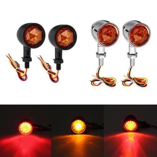 small resolution of 12v universal motorcycle bullet turn signal indicator brake runnning lights 4 wire black cod