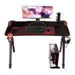 Στα €123.50 από αποθήκη Τσεχίας   Douxlife® Blade GD01 Gaming Desk R-Shaped Metal Frame 47″ Stable Desktop Gamer Workstation with 6 RGB Lighting Color Effects for Home Office