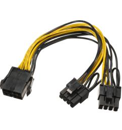 pci e 8 pin to 2x 6 2 pin power splitter cable for ethereum mining power supply cod [ 1200 x 1200 Pixel ]