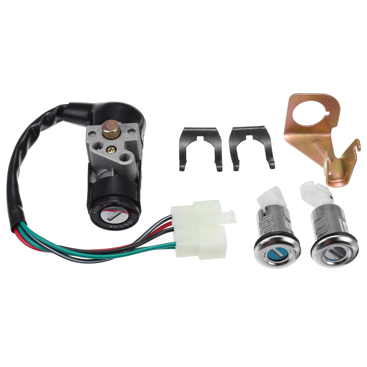hight resolution of ignition switch key set 5 wires for 150cc roketa jonway moped scooter ignition switch key set on tank 50cc scooter motor diagram