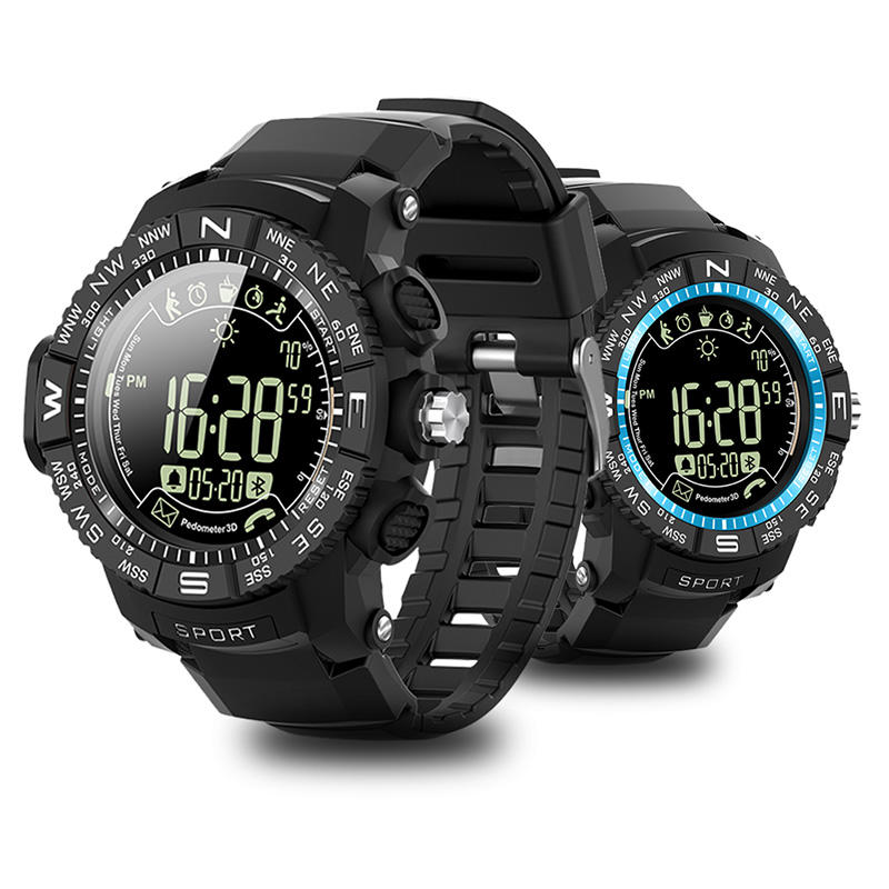 ioutdoor P10 1.2inch FSTN Full View Sunlight-Visible Screen Luminous Display 5ATM Waterproof 33months Standby Real-time Message Remind Smart Watch