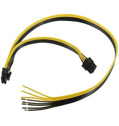 double pci e pcie 8pin diy power supply line cable for ethernet cable graphics card mining cod [ 1200 x 1200 Pixel ]