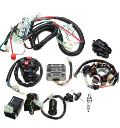 125cc 150cc 200cc 250cc quad electric cdi coil wire harness stator assembly wiring set cod [ 1200 x 1200 Pixel ]