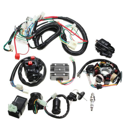 small resolution of 125cc 150cc 200cc 250cc quad electric cdi coil wire harness stator assembly wiring set cod