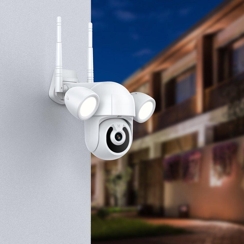 INQMEGA ST-939 3MP Smart WIFI Lighting IP Camera Courtyard Floodlight Outdoor IR IP66 Waterproof Home Garden CCTV Security Surveillance Cam Lights Wall Lamp