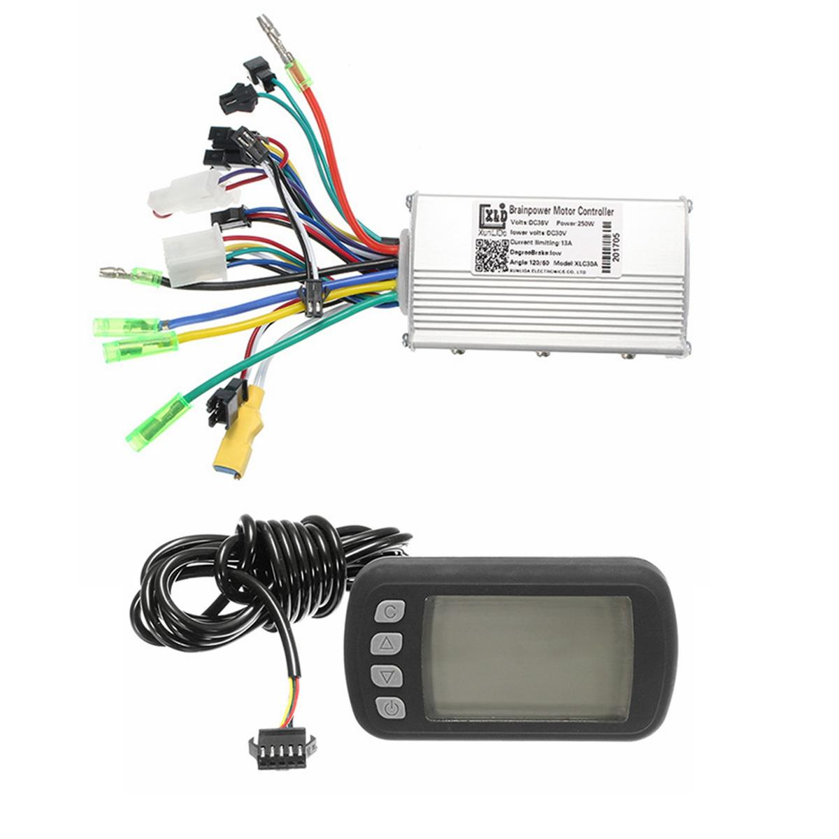 hight resolution of 24v36v48v250w350w bldc motor speed controller lcd display for mtb e bike scooter model a 250w 24v cod