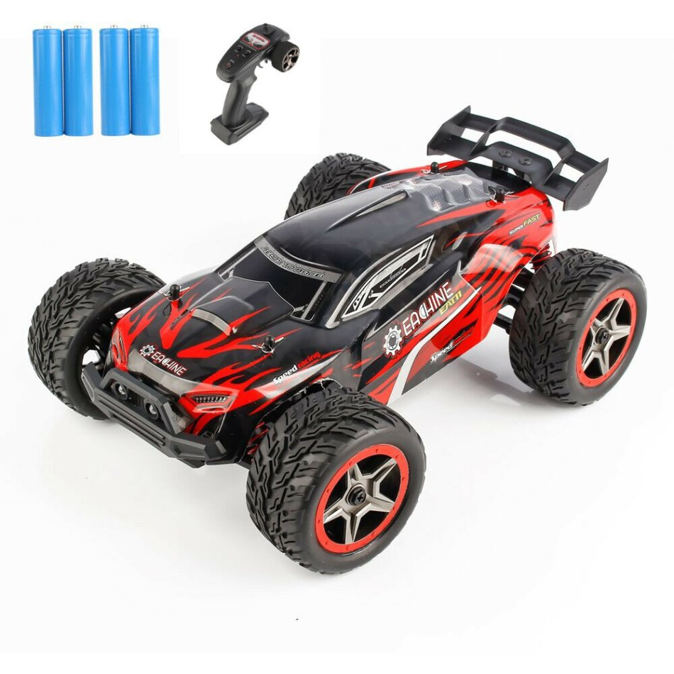Eachine EAT11 1/14 2.4G 4WD RC Car High Speed Vehicle Models W/ Head Light Full Proportional Control Two Battery COD
