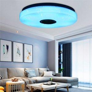Στα 26€ από αποθήκη Τσεχίας | 30W Modern Dimmable LED RGB Bluetooth Music Ceiling Light APP Remote Control – 220V APP+Remote Control