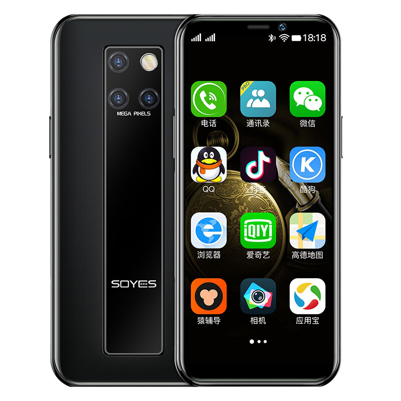 SOYES S10-H 4G Mini SmartPhone Android 9.0 With WIFI Phone 3.49 Inch 2100mAh GPS RAM 3GB ROM 32GB/64GB Quad Core Google Play Facebook Whatsapp Mobile Phone