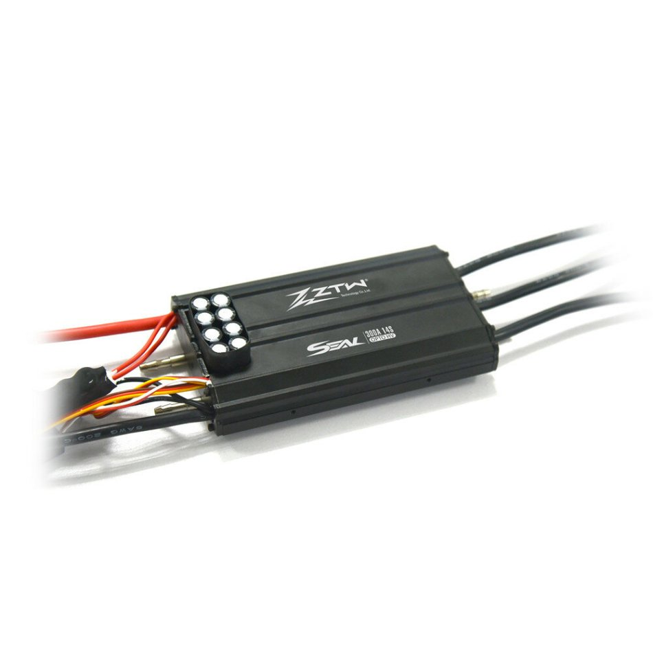 ZTW Seal 300A OPTO HV 14S All Metal Brushless ESC W/ Water Cooling System for Rc Boat Parts
