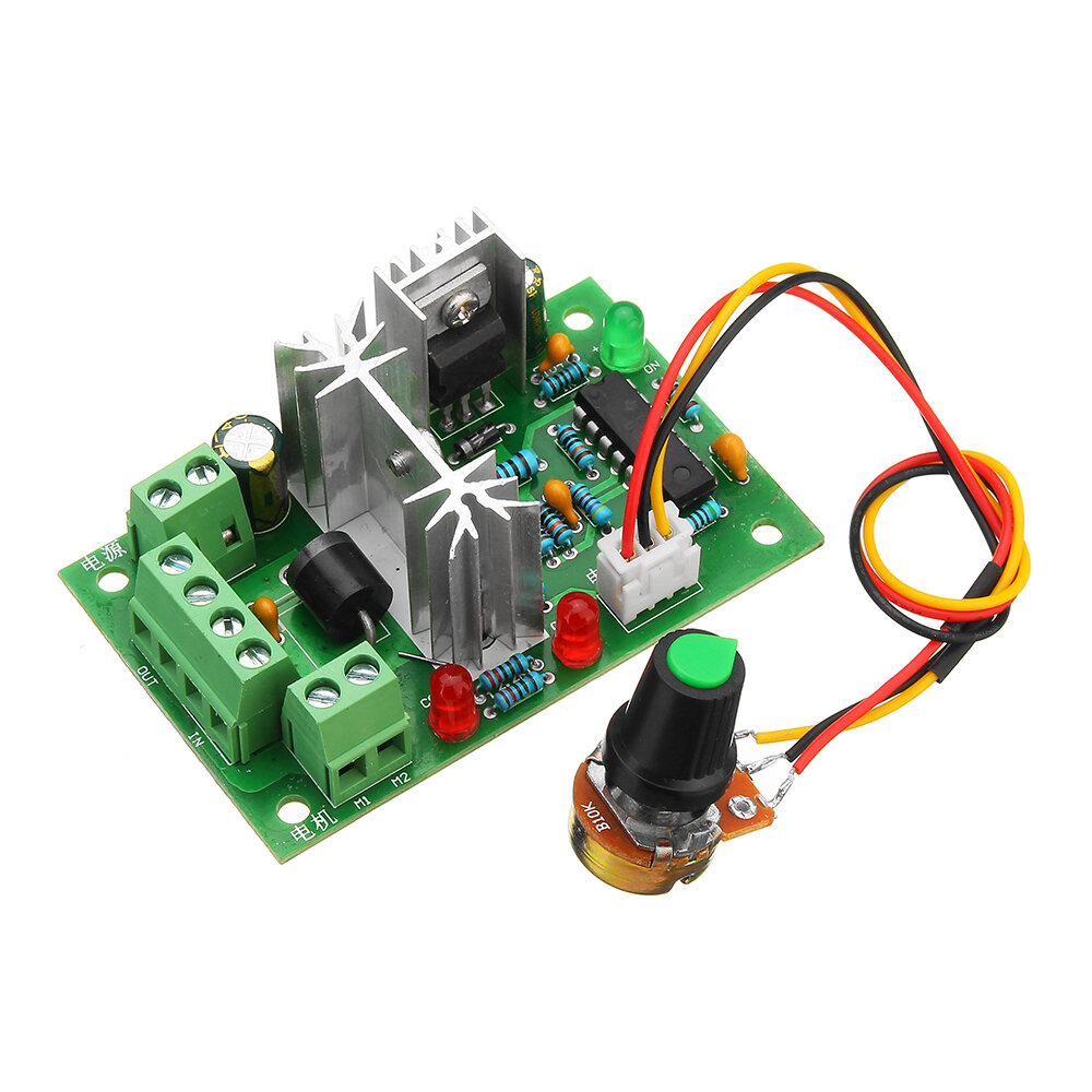 hight resolution of pwm dc motor speed switch controller control reversible regulator cod