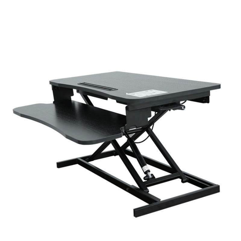 BAIZE Height Adjustable Sit Stand Desk Office Desk Riser Foldable Laptop Desk Notebook Monitor Holder Stand With Keyboard Tray
