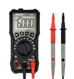 mestek dm90 mini true rmsdigital multimeter auto range tester multimetre better than pm18c 6000 counts display vfc test and ncv test cod [ 1000 x 1000 Pixel ]