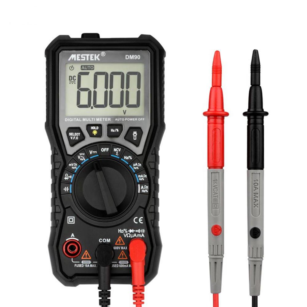 hight resolution of mestek dm90 mini true rmsdigital multimeter auto range tester multimetre better than pm18c 6000 counts display vfc test and ncv test cod