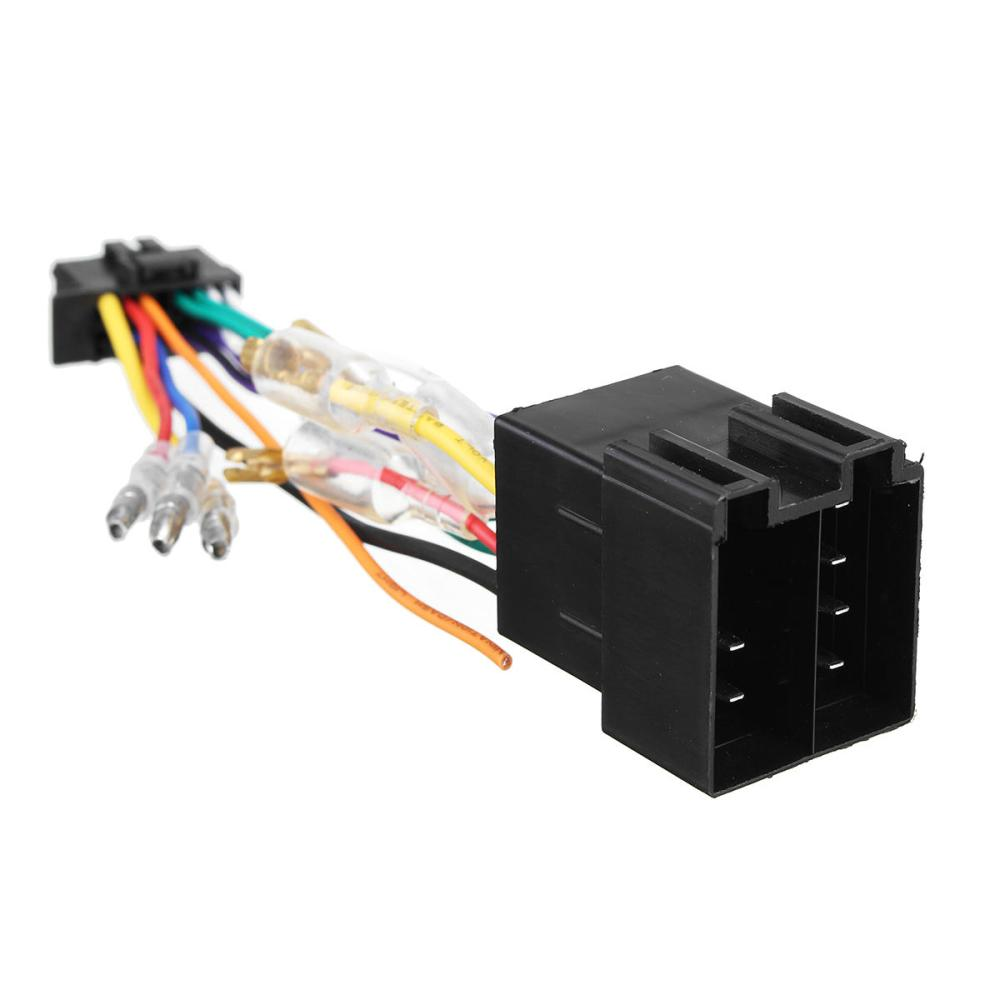 medium resolution of 16pin car stereo radio wiring harness connector plug iso pi100 for 16pin car stereo radio wiring