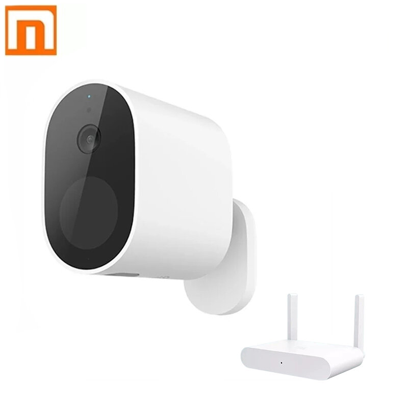 XIAOMI Smart Outdoor Security Camera 1080P Wireless 5700mAh Rechargeable Battery Powered IP65 Waterproof Home Security Camera with WDR Smart Night Vision Two-way Audio PIR Human Detection Support TF Card U Disk Cloud Storage