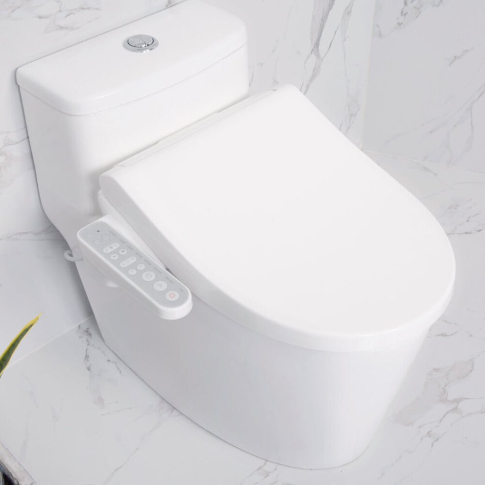 [ AI Version ] Tinymu Smart Toilet Cover Seat Temperature Adjustment APP Control with Interaction Mi Band 2/3 Identification with 8 Colors Light