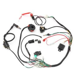 wiring harness loom solenoid coil rectifier cdi 50cc 70cc 110cc cdi wiring harness [ 1200 x 1200 Pixel ]
