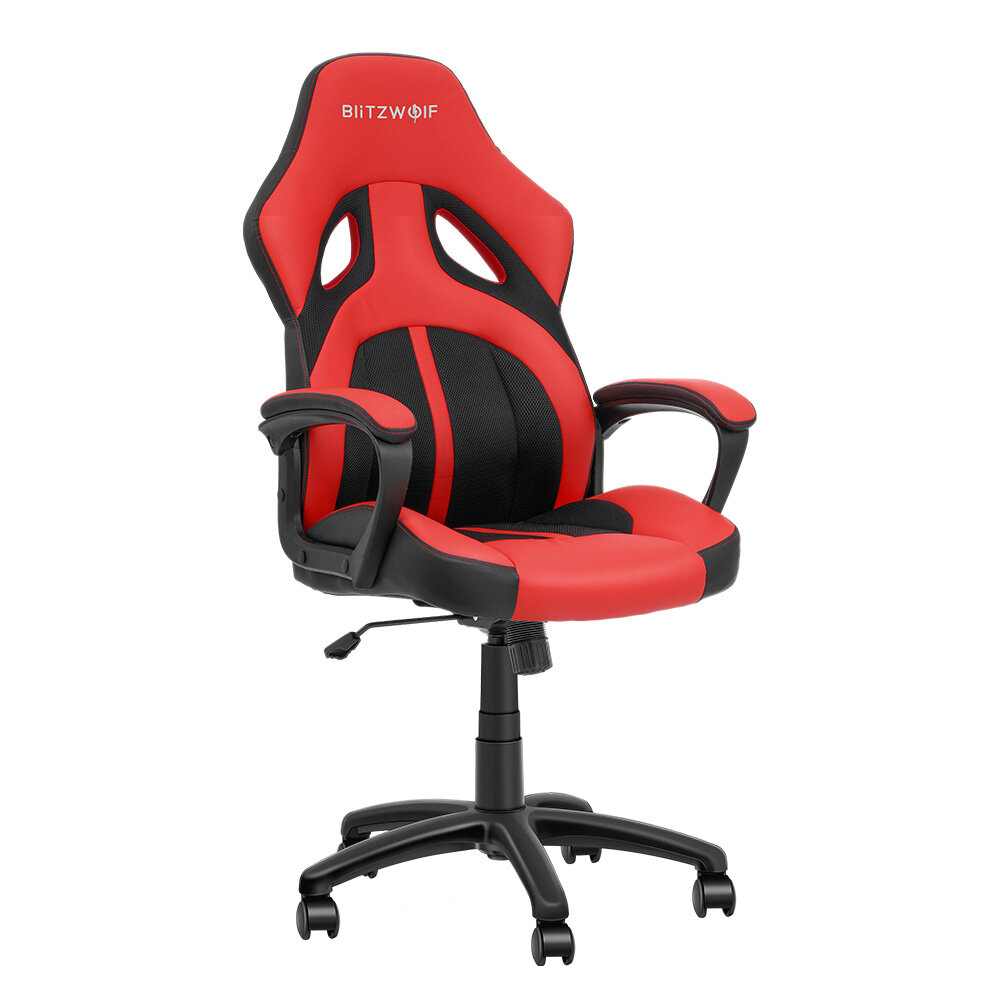 BlitzWolf® BW-GC3 Racing Style Gaming Chair PU + Mesh Material Streamlined Design Adjustable Height Widened Seat Home Office