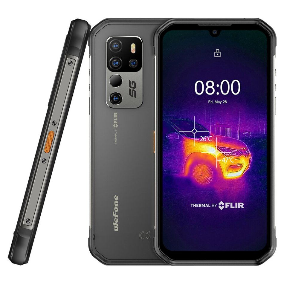 Ulefone Armor 11T 5G FLIR Thermal Imaging Camera IP68 IP69K Waterproof 8GB 256GB 48MP Camera Android 11 6.1 inch NFC Wireless Charge Dimensity 800 Rugged Smartphone