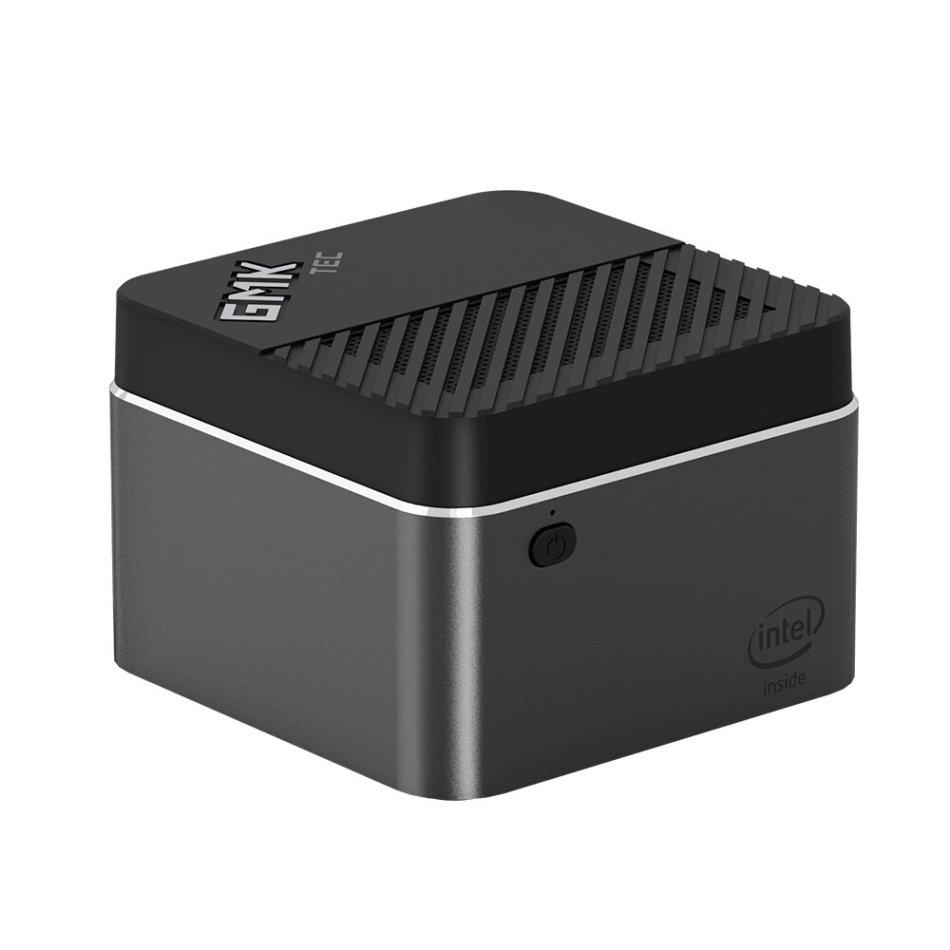 GMK NucBOX Intel Celeron J4125 8GB LPDDR4 512G SSD Mini PC Desktop PC Mini Computer Quad Core 2.0GHz to 2.7GHz TDP 10W M.2 2242 SATA Type-C HDMI Windows 10 BT4.2