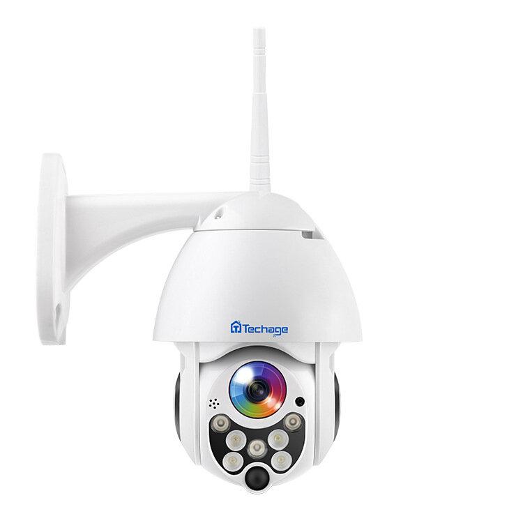 Techage PTZ09 Panoramic 1080P 8XZoom 7 LED Waterproof Wireless PT 360° IP Camera ONVIF H.264 Two Way Audio Speed Dome WIFI Camera Baby Monitors