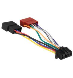 car stereo radio iso wiring harness connector 16 pin pi100 for wiring harness on pioneer car radio stereo 16 pin wire wiring harness [ 1200 x 1200 Pixel ]