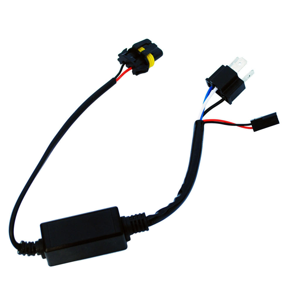 hight resolution of motorcycle h4 headlight telescopic lamp control line high and low hid 12v wiring harness controller diagram hid wiring harness