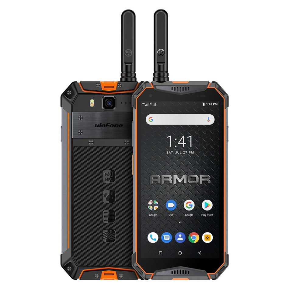 Ulefone Armor 3WT 5.7 Inch Walkie Talkie NFC IP68 IP69K Waterproof 6GB 64GB 10300mAh Helio P70 Octa core 4G Smartphone