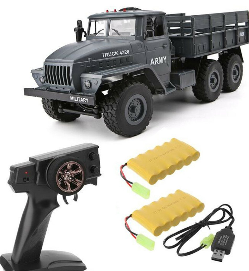 MZ YY2004 Upgraded Version 1/12 2.4G 6WD RC Car Military Truck Off Road RTR Model