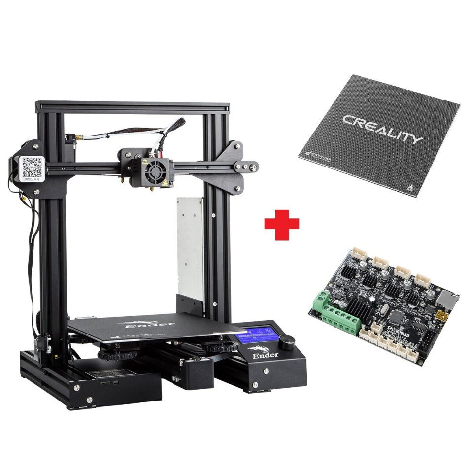 Creality 3D® Customized Version Ender-3Xs Pro V-slot Prusa I3 3D Printer 220x220x250mm Printing Size With Magnetic Removable Sticker/Glass Plate
