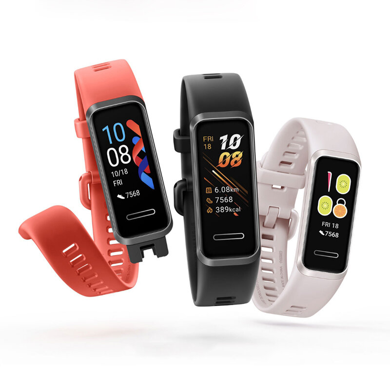 Original Huawei Band 4 Full Touch Screen Wristband Heart Rate SPO2 Monitor Multiple Language USB Charging Chinese Version