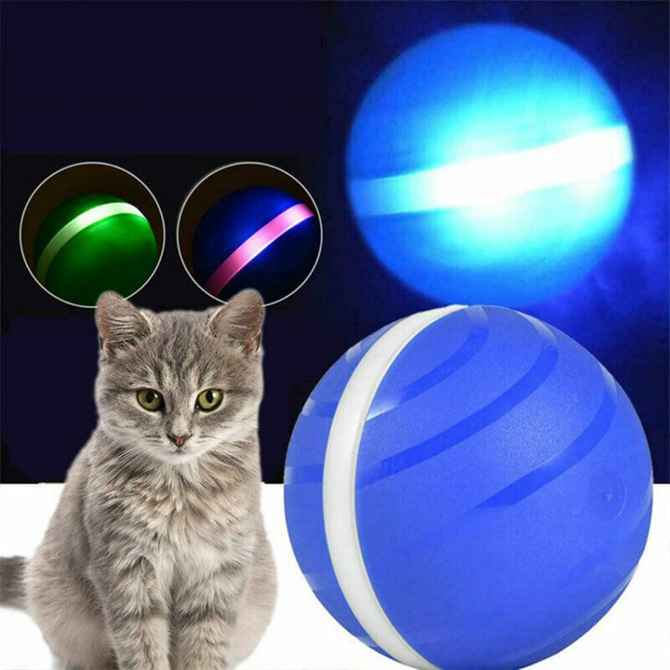 Pet Toys Ball Waterproof Bite Resistant LED Flash Pet Fun Ball For Cat Dog