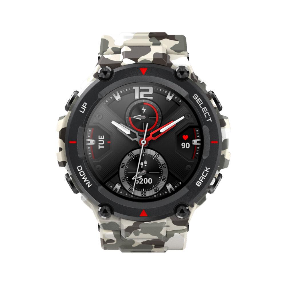 [bluetooth 5.0]Amazfit T-Rex AMOLED GPS + GLONASS Outdoor Watch 14 Sport Modes Track Weather Forecast Smart Watch Chinese Version