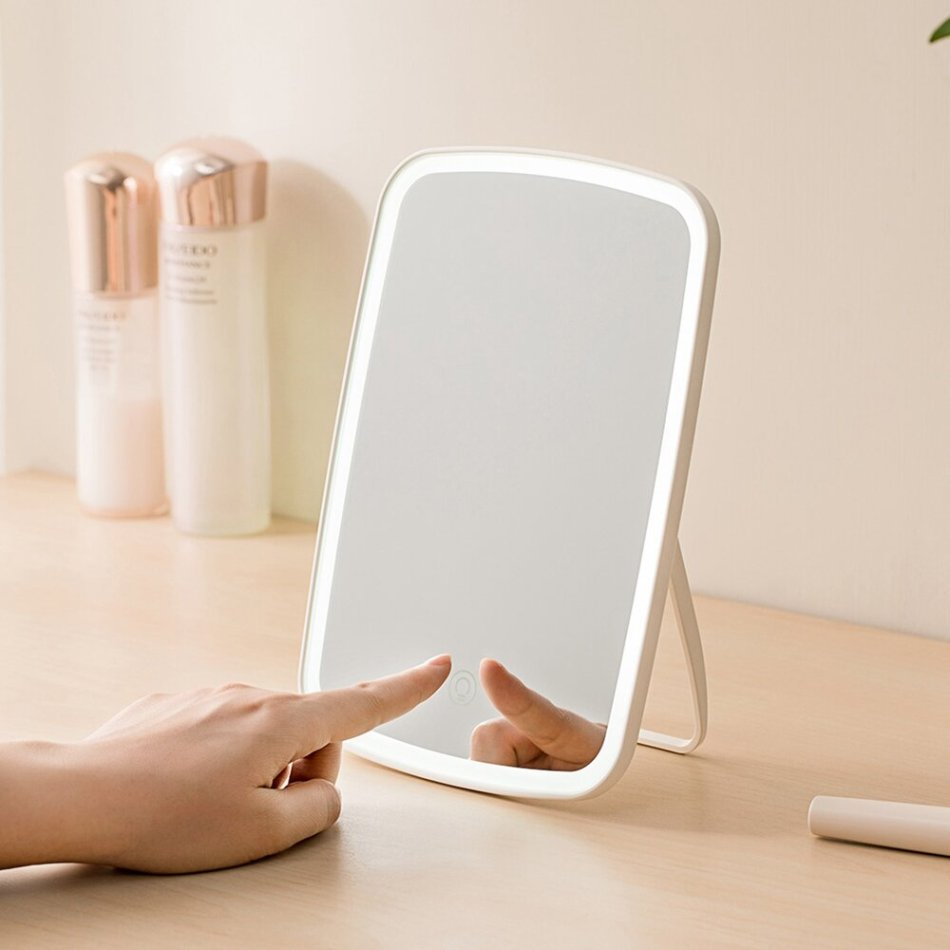 Portable Makeup Mirror Desktop LED Light USB Rechargeable Folding Touch Dimmable Lamp for Dormitory Home from Xiaomi Youpin