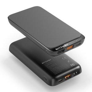 Στα €15 από αποθήκη Τσεχίας δοκιμασμένο και με ασύρματη φόρτιση   BlitzWolf® BW-P10 10000mAh QC3.0 PD18W Power Bank 10W Wireless Charger with 4 Outputs for iPhone 12 12 Mini 12 Pro Max For Samsung Galaxy Note 20