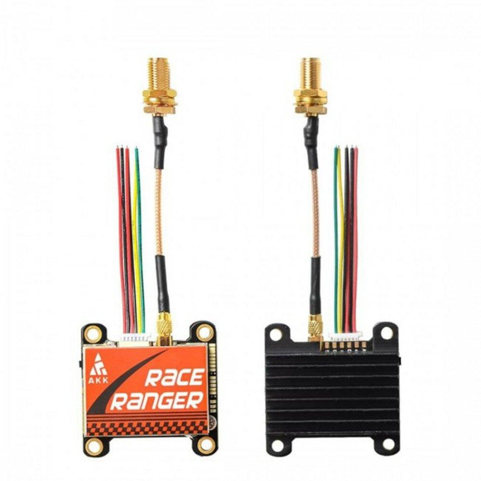 AKK Race Ranger Smart Audio 200mW/400mW/800mW/1600mW Power Switchable FPV Transmitter w/ SMA Adapter for RC Drone Airplane Long Range