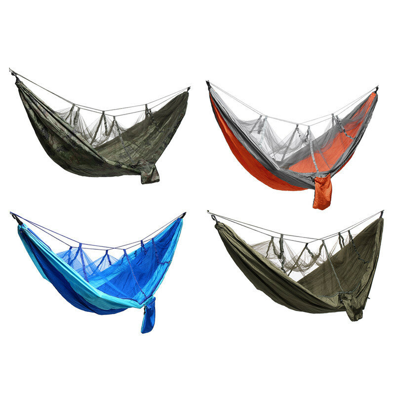 Camping Mosquito Nets Hammocks, Ultralight Camping Hammock Beach Swing Bed Hammock for the Outdoors Backpacking Survival or Travel
