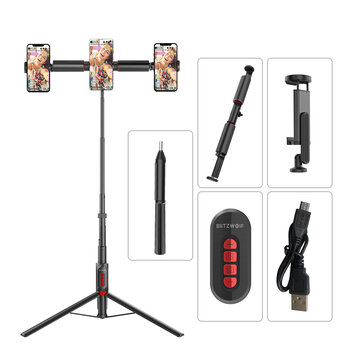 BlitzWolf® BW-BS11 All In One Multifunctional Selfie Stick bluetooth Remote Live Tripod for Phones Sport Camera