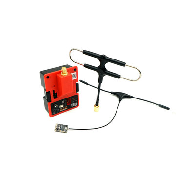 FrSky R9M 2019 900MHz Long Range Transmitter Module and R9 MM Receiver with Mounted Super 8 and T antenna