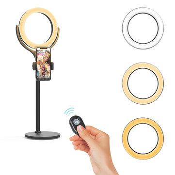 BlitzWolf® BW-SL4 Dimmable Ring Light Night Light Desktop Selfie Phone Holder bluetooth Remote for Live Vlog YouTube TikTok Makeup
