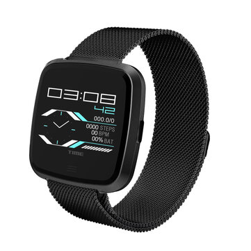 DT NO.1 G12 Steel, Nylon Strap Heart Rate 8 Sport Modes Stopwatch Alarm Smart Watch