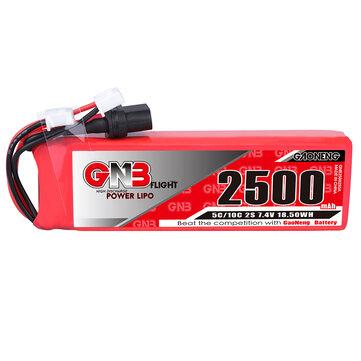 Gaoneng GNB 7.4V 2500mAh 5C 2S Lipo Battery XT60 Plug for Frsky Taranis X9D Plus Transmitter