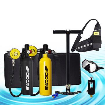 DCCMS DS-810 8pcs/set 1L Portable Diving Oxygen Tank Divers Spare Oxygen Equipment Leisure Diving Mini Scuba Tank