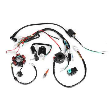 50cc-125cc mini atv complete wiring harness cdi stator 6