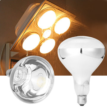 e27 275w infrared heat bulb for ceiling exhaust fan bathroom heater ac220v
