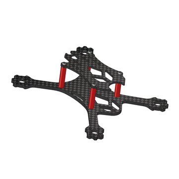 Vx98 98mm wheelbase 2.5mm arm 3k carbon fiber x stretch fpv racing frame kit Sale - Banggood.com sold out-arrival notice-arrival notice