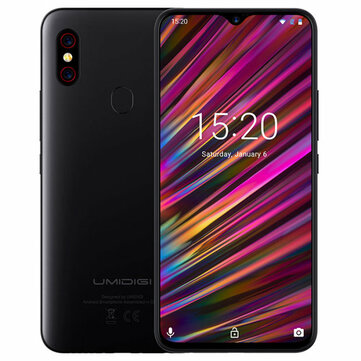£194.8117%UMIDIGI F1 Play Android 9.0 Global Bands 6.3 Inch FHD+ NFC 5150mAh 6GB RAM 64GB ROM Helio P60 Octa Core 2.0GHz 4G SmartphoneSmartphonesfromMobile Phones & Accessorieson banggood.com