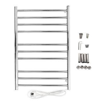 heated towel warmer holder stainless steel wall mounted electric heated towel rail bathroom towel rack dryer